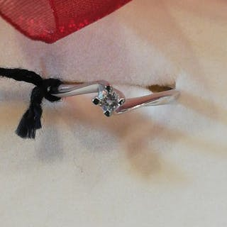 Gold, White gold - Ring