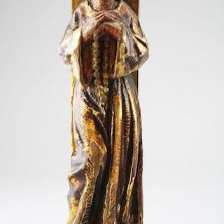 Sculpture, Saint Anthony- Wood - 17th century