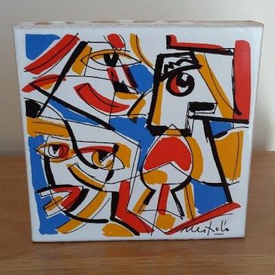 Nespolo Ugo - Dipinto su piastrella - Ceramica