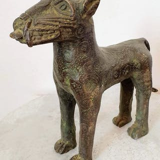 Skulptur - Afrikanische Bronze - BENI EDO - Nigeria