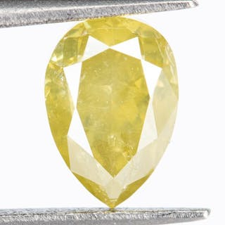 Diamond - 0.79 ct - Natural Fancy Yellow - I1*NO RESERVE*