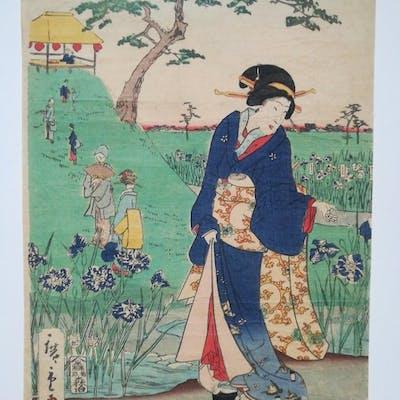 Gravure originale sur bois - Utagawa Hiroshige (1797-1858)