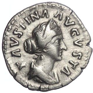 Römisches Reich - Denarius Faustina II (AD 147-175) - Two...