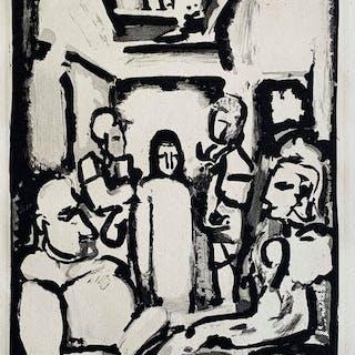 Geroges Rouault (1871 - 1958) - Christ et Pauvres, From La Passion