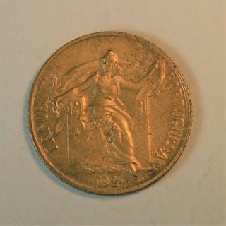 Portugal - República -50 Centavos 1924 - Rara - Bronze / Aluminum