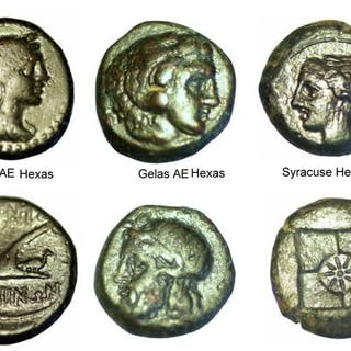 Greece (ancient) - Sicily, 6 coins of various mints, c. 420-150 BC