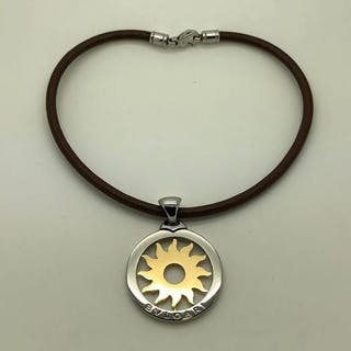 Bvlgari - 18 kt. Gold, Steel - Necklace with pendant