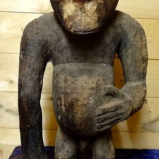 Skulptur (1) - Holz - monkey bulu- Kamerun