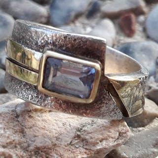 Paula Bolton - 925 Gold, Silber - Ring Londoner Blautopas