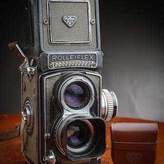 RolleiflexT Model 1 Gris avec N° T 2121562 Fonctionnel