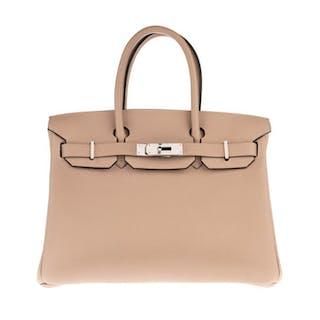 Hermès - Birkin 30 Togo Gris Tourterelle Handbag