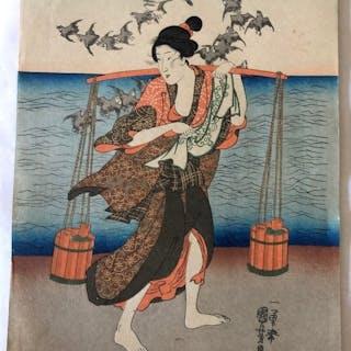 Original woodblock print - Utagawa Kuniyoshi (1797-1861)...