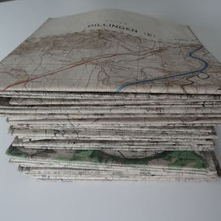 United Kingdom - very rare big lot of 40 German WWII Maps...