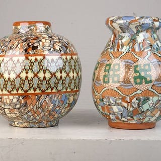 Jean Gerbino (1876-1966) - Vallauris - Zwei Vasen - Keramik