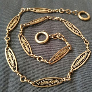 18 kt. Gold - 18k gold chain from pocket watch