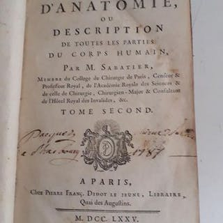 M.Sabatier - Traité complet d'anatomie ou description de...