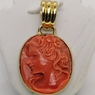 18 kt. Gold - Pendant coral