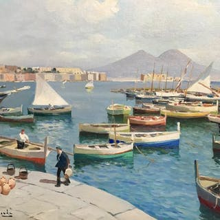 Luigi Bertolingrande (1912-1965) - Napoli Mergellina