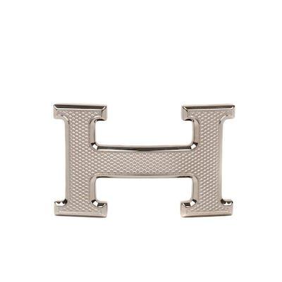 Hermès - NEW Constance Guillochée argenté Boucle de ceinture