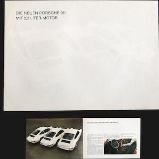 Broschüren/ Kataloge - Porsche folder voor 911 2.2 liter T/E/S - 1970