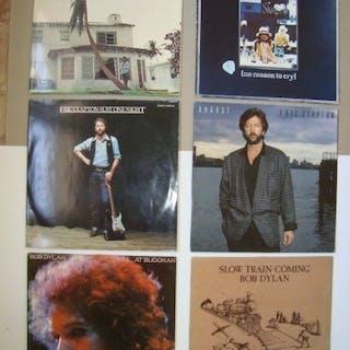 Eric Clapton / Bob Dylan - Diverse Titel - 8 Vinyl / 6 Album - 1974/1986
