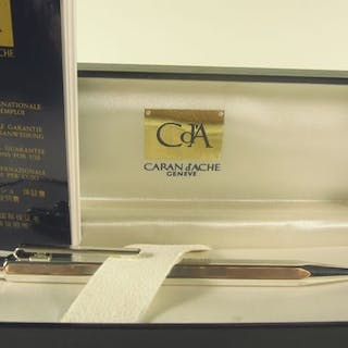 Caran d'Ache - Refined ballpoint pen - box & papers