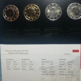 Monaco - 2 Euro - 2012 Precious Metal Set (4 coins) - 'Alberto II'