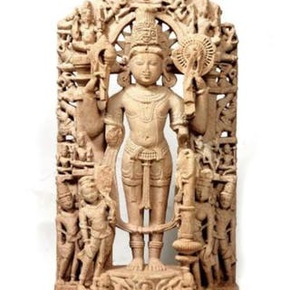 Stele - Sandstone - A museum quality magnificent India...