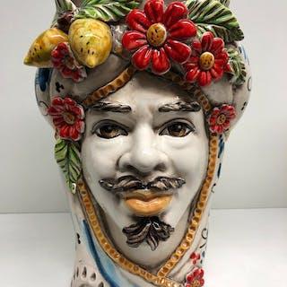 Caltagirone - Oggetto in ceramica, Portavaso, Vaso - Ceramica