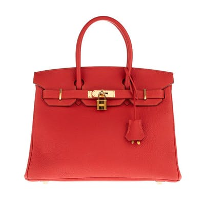 Hermès - Birkin 30 Togo Rouge Pivoine Sac à main