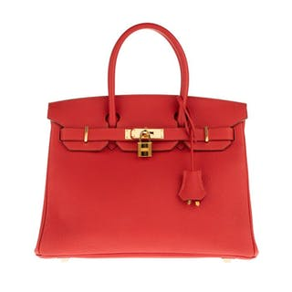 Hermès - Birkin 30 Togo Rouge Pivoine Handbag