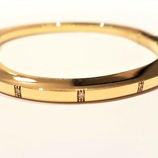 Chiampesan - 18 kts. Or jaune - Bracelet Diamant