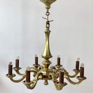 Chandelier - Brass - Early 20th century