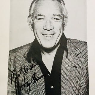 Anthony Quinn - Signed Photo ( 20 x 25 cm ) - with Certificate Of Authenticity