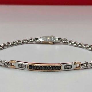 Zancan - 18 kt. Pink gold, White gold - Bracelet - 0.04 ct Diamond - Diamond