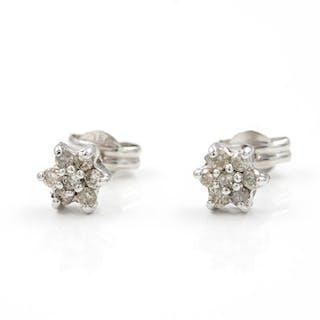 18 kt. White gold - Earrings Diamond