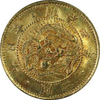 Japan - 2 Yen - Meiji ear, year 3 (1870) one-year type - scarce - Gold