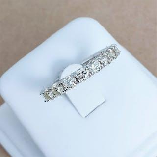 18 kt. White gold - Ring - 3.01 ct Diamond