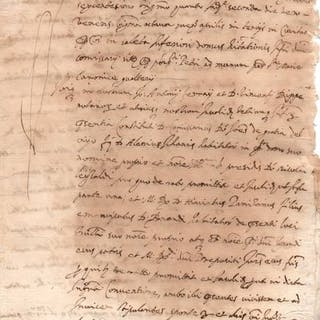 Notary Nicola Carli - Manuscript; Sales Contract for Six Water Ounces