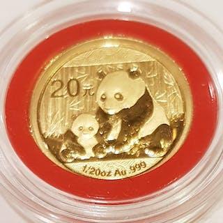 China - 10 & 20 Yuan - 2012 Panda Coin set - Gold, Silver