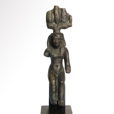 Ancient Egyptian BronzeSeated Figure of Harsomtous