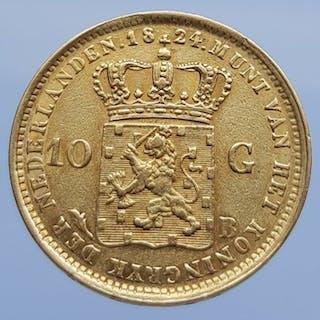 Paesi Bassi - 10 Gulden 1824-B Willem I - Oro