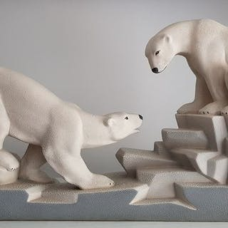 Charles Lemanceau - Sainte Radegonde - Art Deco polar bears