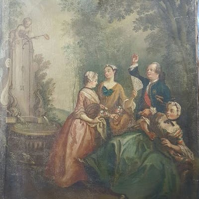 Scuola piemontese, fine XVIII secolo  - Scena di corte