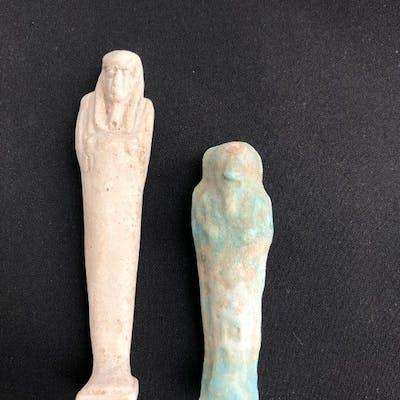 Ancient Egyptian Faience Two Ushabties - (3)