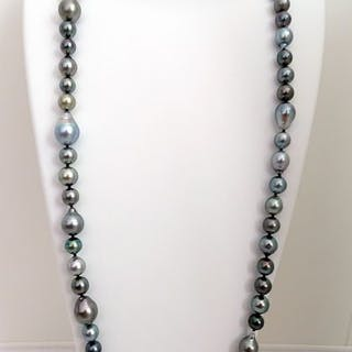 HS Jewellery Tahitian pearls, Baroque 8.1 mm X 12.37 mm, Opera - Necklace
