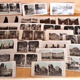 Marque de Fabrique . Interessante collezione di 25 fotografie stereoscopiche