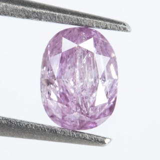 Diamond - 0.19 ct - Natural INTENSE Purplish Pink - I3*NO RESERVE*