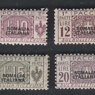 Italienisch-Somalia 1926 - High values postal parcels...