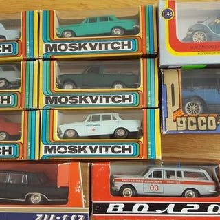 Saratov / Agat - 1:43 - Kavel met 10 modellen: Moskvitch